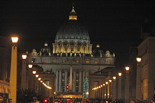 St Peter's at night